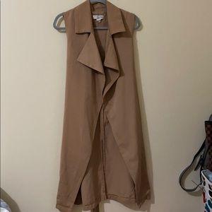 Sleeve Tan Trench Jacket